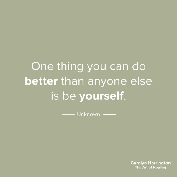 One Thing You Can Do Better Than Anyone Is Be Yourself quote