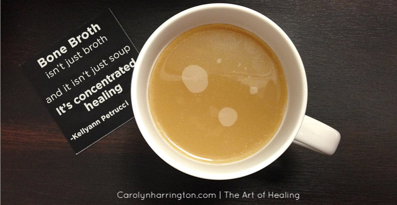 Cup of Bone Broth with Quote