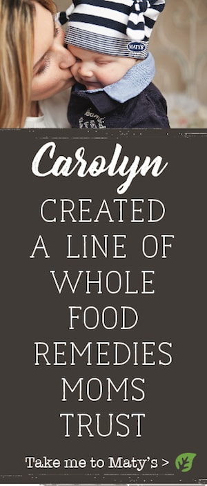 carolyn created a line of whole food remedies moms trust