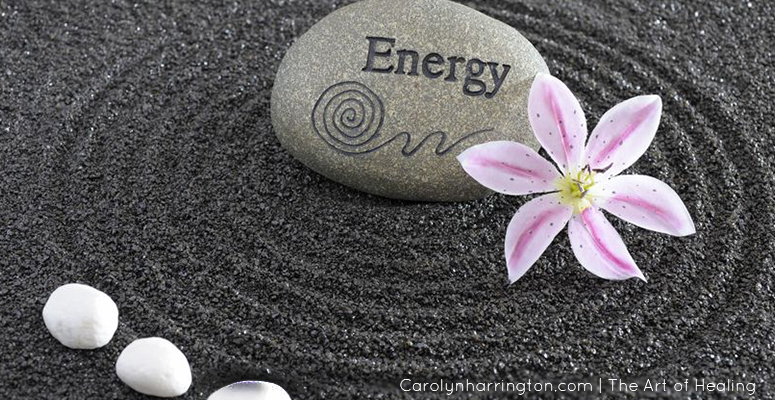 Energy Healing Rock and Flower